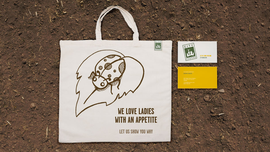 City Farmer Tote Bag and Business Cards
